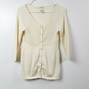 DKNY Jeans Womens Cardigan Sweater Top Small S